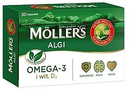 "Parfumuri și produse cosmetice Supliment alimentar ""Omega 3 + D3"" - Mollers Algi"