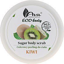 "Parfumuri și produse cosmetice Scrub pentru corp ""Kiwi"" - Ava Laboratorium Eco Body Natural Sugar Scrub Kiwi"