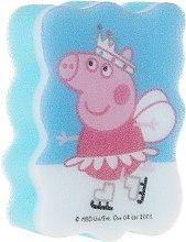 """Parfumuri și produse cosmetice Burete de baie """"Peppa Pig"""" pentru copii, Peppa pe patine - Suavipiel Peppa Pig Bath Sponge"""