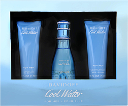 Parfumuri și produse cosmetice Davidoff Cool Water Woman - Set (edt/50ml + b/lot/50ml + sh/gel/50ml)