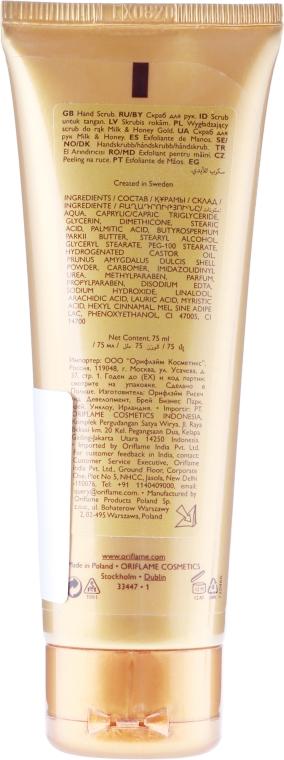 Scrub pentru mâini «Lapte și miere. Seria de aur» - Oriflame Milk & Honey Gold Hand Scrub — Imagine N2