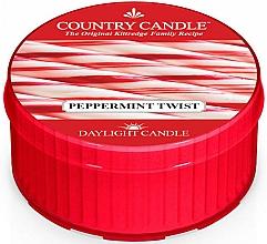 "Parfumuri și produse cosmetice Lumânare de ceai ""Peppermint Twist"" - Country Candle Peppermint Twist Daylight"