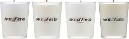 Parfumuri și produse cosmetice Set - AromaWorks Signature Range Candle Boxed Set (candles/4x75g)