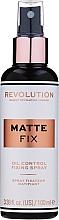 Parfumuri și produse cosmetice Fixator de machiaj - Makeup Revolution Matte Fix Oil Control Fixing Spray