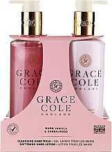 Parfumuri și produse cosmetice Set - Grace Cole Warm Vanilla & Sandalwood (h/wash/300ml + h/lot/300ml)