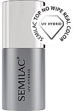 Parfumuri și produse cosmetice Top coat pentru oja semipermanentă - Semilac Top No Wipe Real Color