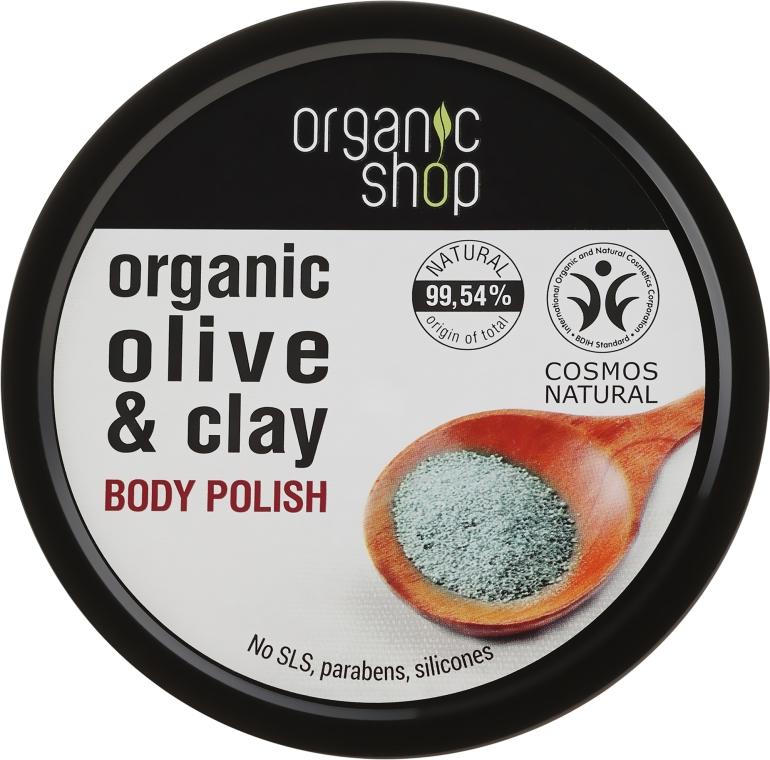 Scrub de corp cu argilă - Organic Shop Body Scrub Organic Olive & Clay — Imagine N1