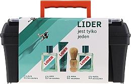 Parfumuri și produse cosmetice Set - Lider Classic (ash/lot/100ml + shav/cr/65g + edc/100ml + shav/brush + case)