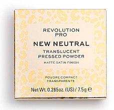 Parfumuri și produse cosmetice Pudră de față - Revolution Pro New Neutral Translucent Pressed Powder