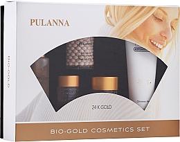 Parfumuri și produse cosmetice Set - Pulanna Bio-Gold (eye/gel/21g + f/cr/2x60g + f/ton/60g + cl/milk/90g)