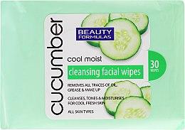 Parfumuri și produse cosmetice Șervețele demachiante cu extract de castravete - Beauty Formulas Cucumber Cleansing Facial Wipes