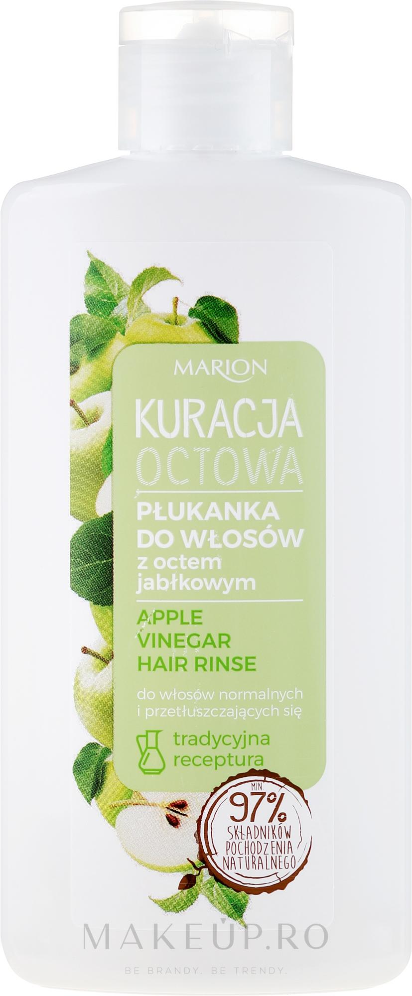 Agent de clătire pentru păr gras - Marion Apple Vinegar Hair Rinse — Imagine 130 ml