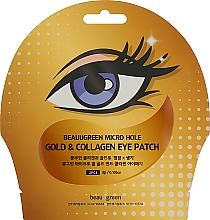 Parfumuri și produse cosmetice Patch-uri cu colagen și aur pentru ochi - Beauugreen Micro Hole Eye Patch Gold Collagen