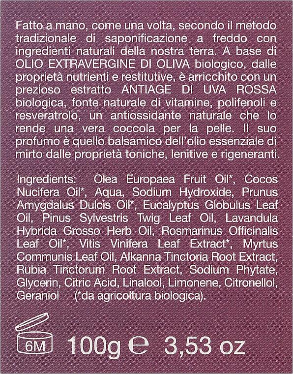 "Săpun bio ""Mirtle și Struguri roșii"" - La Saponaria Bio Sapone — Imagine N3"