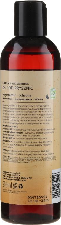 Gel de duș pentru piele uscată și sensibilă - Organique Naturals Argan Shine — Imagine N2