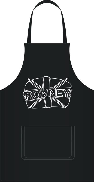 Șorț pentru coafor, neagră - Ronney Professional Hairdressing Apron — Imagine N2