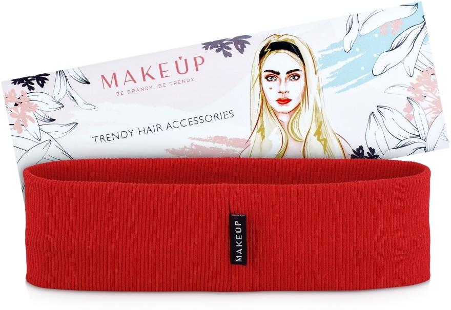 """Bandă elastică pentru păr """"Be Beauty"""", roșie - MakeUp"""