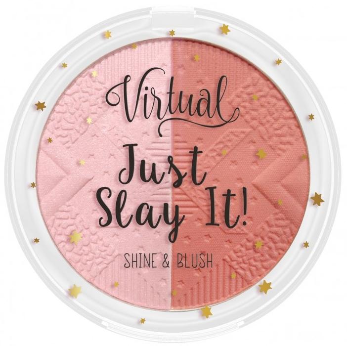 Pudră de obraz iluminatoare pentru față - Virtual Just Slay It! Shine & Blush