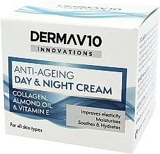 Parfumuri și produse cosmetice Cremă anti-îmbătrânire cu colagen pentru față - Derma V10 Innovations Anti-Ageing Day & Night Cream