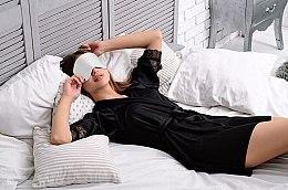 """Mască pentru somn """"Soft Touch"""", albă - MakeUp — Imagine N2"""