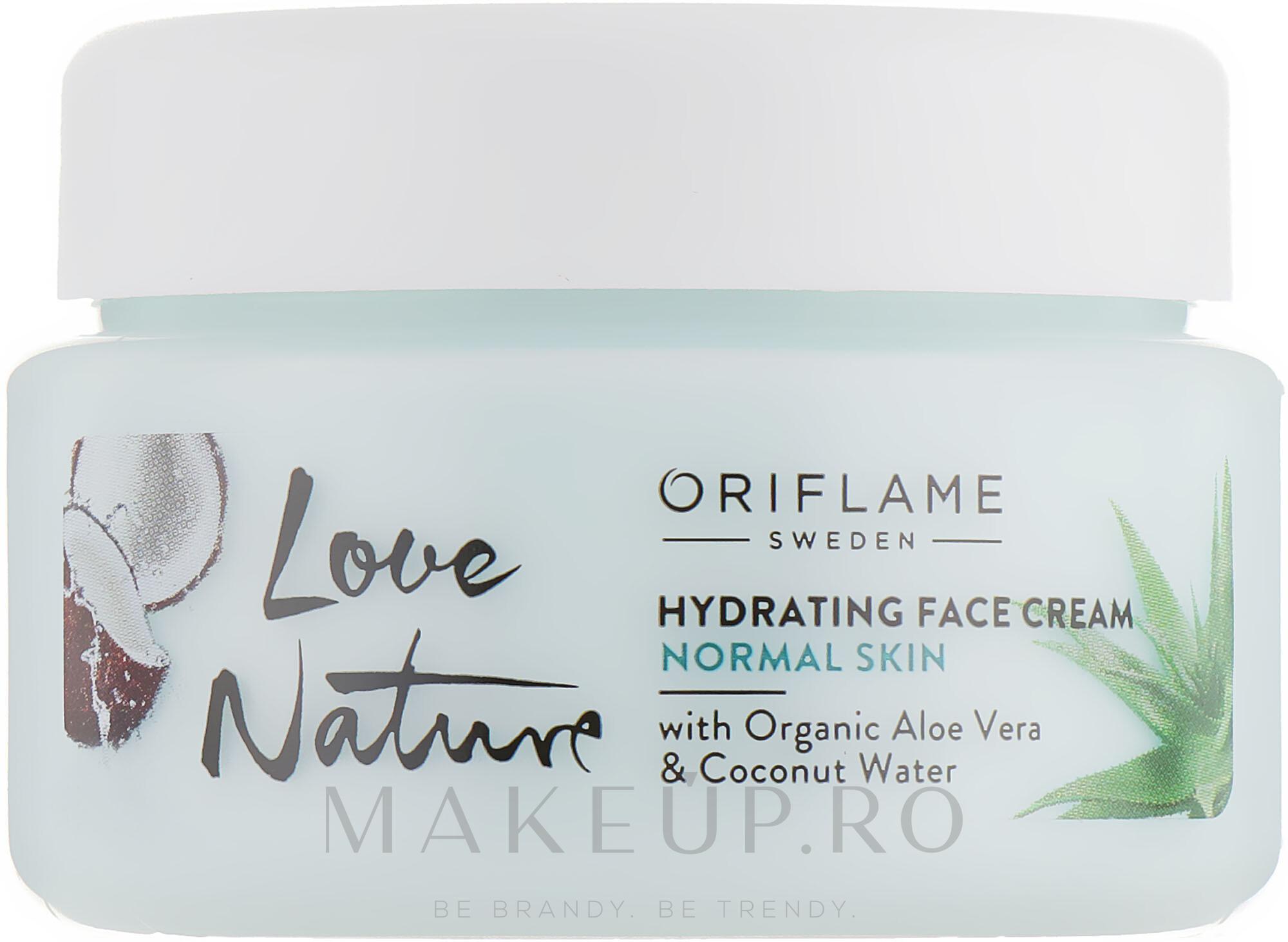 Cremă hidratantă pentru față - Oriflame Love Nature Hydrating Face Cream — Imagine 50 ml