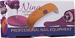Parfumuri și produse cosmetice Lampă LED UV pentru unghii, albă - Ronney Professional Nina 9W (GY-LED-018)