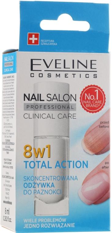 Tratament pentru restabilirea unghiilor 8in1 - Eveline Cosmetics Nail Salon Clinical Care 8 in 1