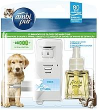 """Parfumuri și produse cosmetice Set pentru aromatizare """"Îngrijirea animalelor"""" - Ambi Pur (diffuser/1szt+refill/21.5ml)"""
