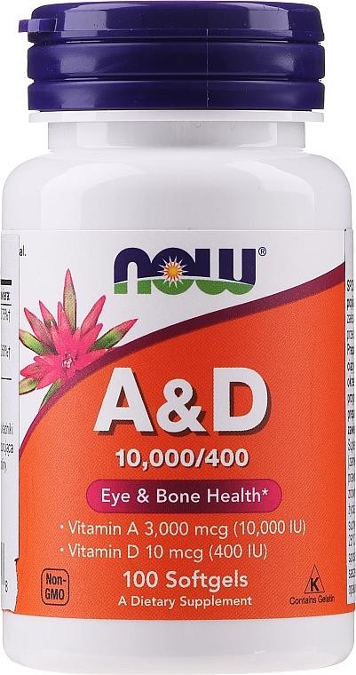 """Supliment alimentar """"Vitaminele A și D"""" - Now Foods A&D Eye & Bone Health"""