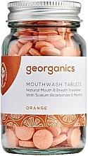 """Parfumuri și produse cosmetice Tablete de clătire pentru cavitatea bucală """"Portocală"""" - Georganics Mouthwash Tablets Refill Pack Orange"""