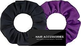 """Parfumuri și produse cosmetice Set elastice de păr, tricotaj """"Black&Violet"""" - MakeUp"""