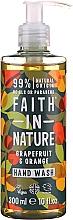 Parfumuri și produse cosmetice Săpun lichid cu grapefruit și portocală - Faith in Nature Grapefruit & Orange Hand Wash