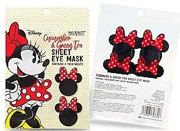 """Parfumuri și produse cosmetice Mască de țesut pentru pielea din jurul ochilor """"Castraveți și ceai verde"""" - Mad Beauty Disney Minnie Mouse Sheet Eye Mask"""