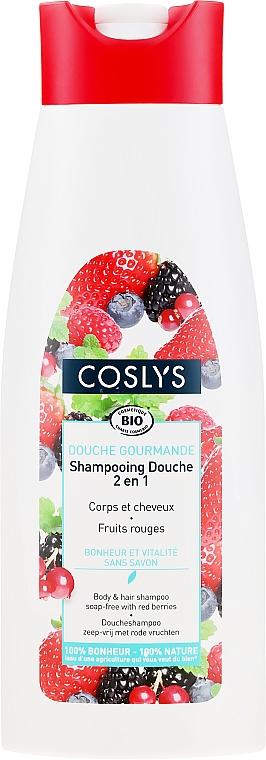 Șampon organic pentru păr și corp, fără săpun - Coslys Body Care Body And Hair Shampoo With Red Berries — Imagine N1