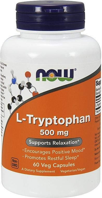 Capsule de L-triptofan, 500 mg - Now Foods L-Tryptophan — Imagine N1
