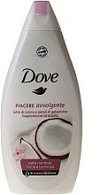 """Cremă gel de duș """"Lapte din nucă de cocos și petale de iasomie"""" - Dove — Imagine N1"""