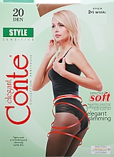 "Parfumuri și produse cosmetice Colanți ""Style"" 20 Den, natural - Conte"