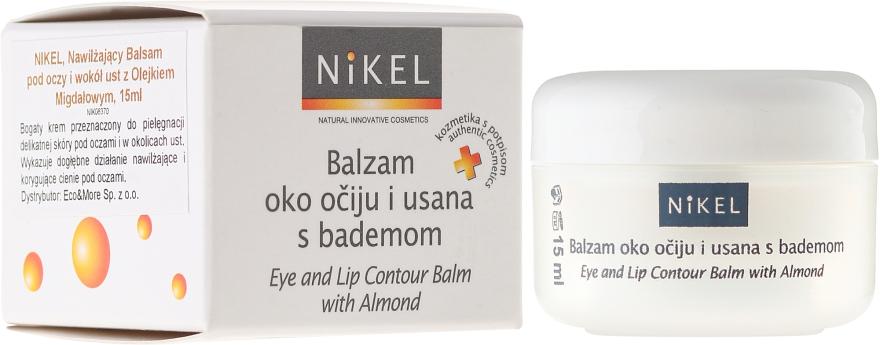 Balsam cu ulei de migdale pentru zona ochilor și buzelor - Nikel Eye and Lip Contour Balm — Imagine N1