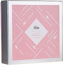 Parfumuri și produse cosmetice Lacoste Eau de Lacoste L.12.12 Pour Elle Sparkling - Set (edt/90ml+sh/gel/150ml)