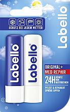 Parfumuri și produse cosmetice Set - Labello Care Balm Set (balm/2x5.5ml)