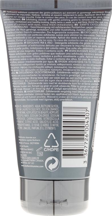 Scrub exfoliant pentru față - Biotherm Homme Facial Exfoliator — Imagine N2