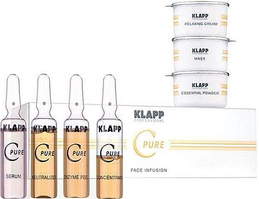 Set - Klapp C Pure Face Infusion Treatment (peel/5ml + powder/0.8g + neutr/5ml + mask/5g + serum/5ml + gel/3ml + cr/10ml) — Imagine N1