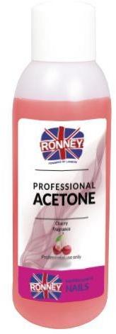 """Soluție pentru îndepărtarea ojei """"Vișină"""" - Ronney Professional Acetone Cherry"""