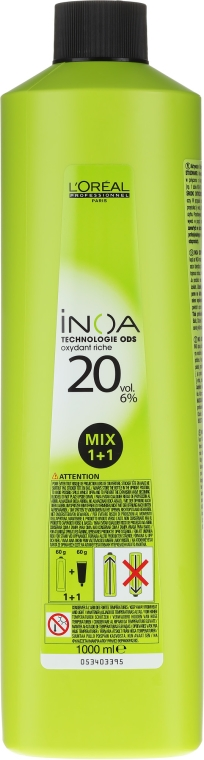 Oxidant - L'oreal Professionnel Inoa Oxydant 6% 20 vol. Mix 1+1 — Imagine N1