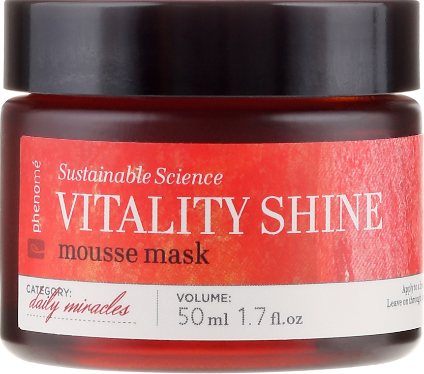 Mască de față - Phenome Sustainable Science Vitality Shine Mousse Mask — Imagine N2