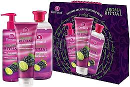 "Parfumuri și produse cosmetice Set ""Struguri și lime"" - Dermacol Aroma Ritual Grape & Lime (sh/gel/250ml+l/soap/250ml+b/foam/500ml)"