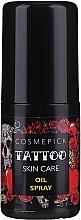 Parfumuri și produse cosmetice Ulei de îngrijire a tatuajelor - Cosmepick Tattoo Skin Care Oil Spray