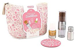 Parfumuri și produse cosmetice Set - Namaki Glitter Kit (polish/7.5ml+nail/powder/7g+brush+mirror+acc)