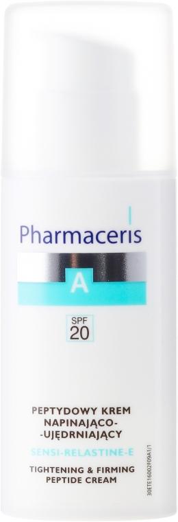 Cremă antirid pentru față - Pharmaceris A Sensi-Relastine-E Tightening and Firming Peptide Cream SPF20 — Imagine N2