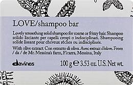 Parfumuri și produse cosmetice Șampon netezitor pentru păr aspru și ondulat - Davines Essential Haircare Love Smooth Shampoo Bar
